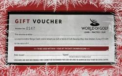 World of Golf Gift Voucher