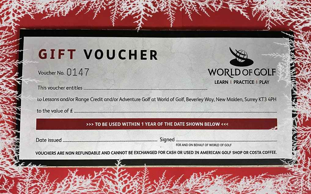 World of Golf Gift Voucher