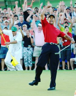 Tiger's chip at the Masters