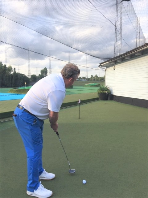 Look at the hole when practicing putting